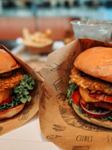 Vegetarian burgers are becoming more prevalent